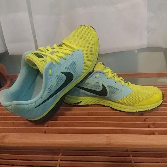 Buzo jugador total  Nike Shoes | Nike Zoom Fly Womens Neon Yellow Baby Blue 75 | Poshmark